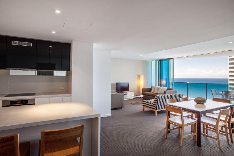 3 Bedroom 2 Bathroom Ocean View Residence, Hilton Surfers Paradise